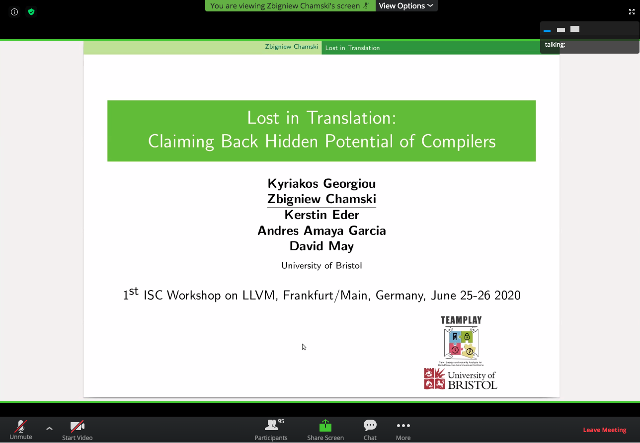 ISC2020 llvm Workshop_start